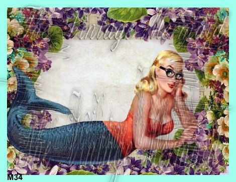 Nerd Mermaid Craft Fabric Block Cotton by fabricblockprints