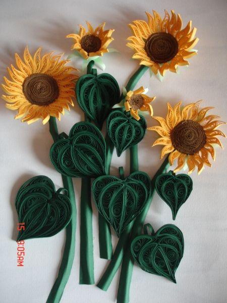 Quilled Sunflower.