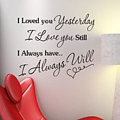 Words Always Love You Wall Stickers – USD $ 19.99