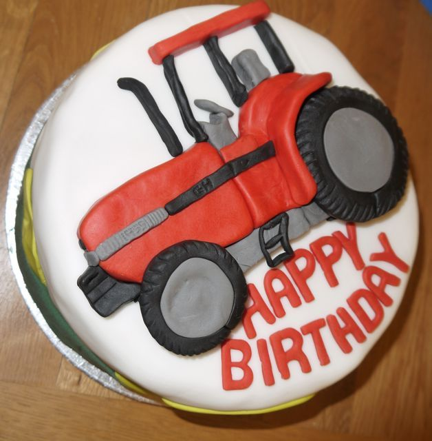 Trying out sugarpaste for all family birthday cakes. Quite pleased with my first and last attempt at a red tractor cake! Vanilla sponge with buttercream and blueberry jam was a successful combination.
