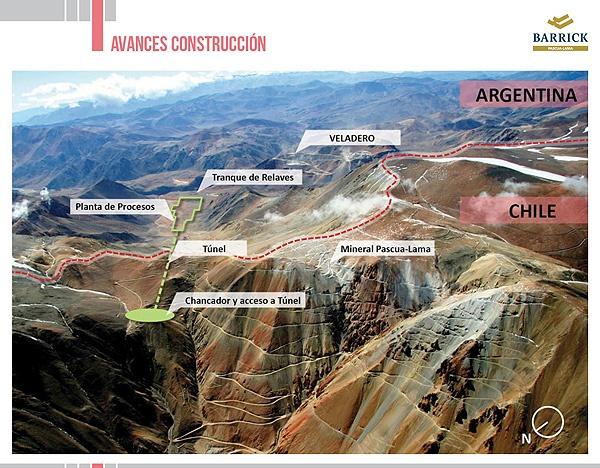 Avances en la Construcción de Pascua-Lama - Infografía completa en el sitio de Pascua-Lama http://pascua-lama.com