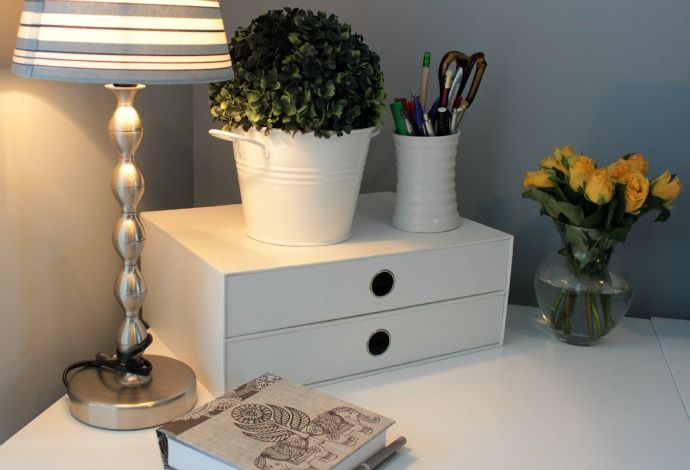 A Sunny Home Office Makeover