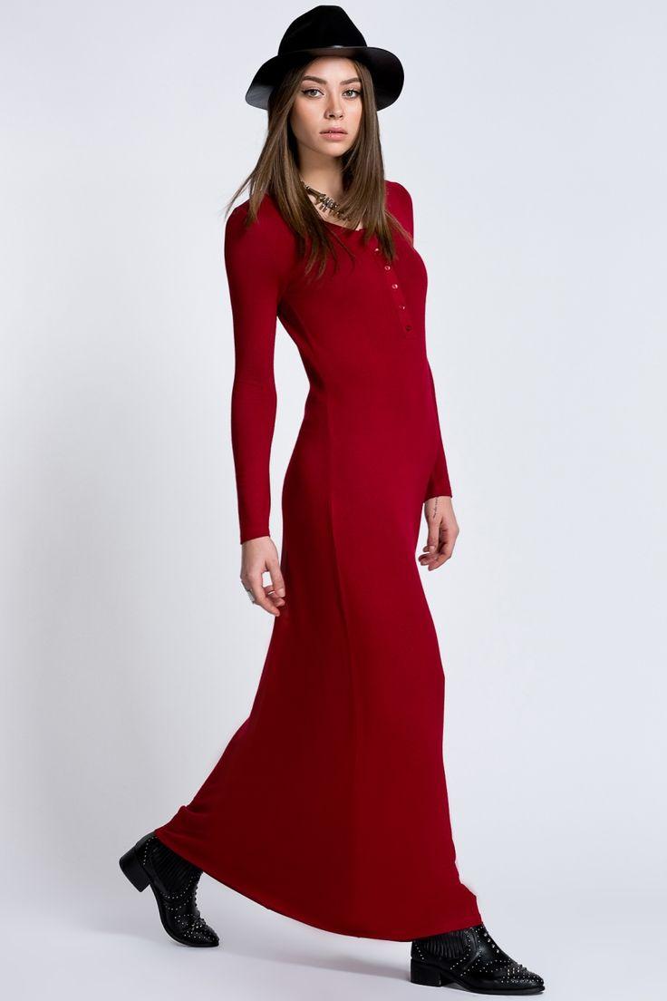 Modagram Japon Stili Maxi Elbise :: Zinde Market