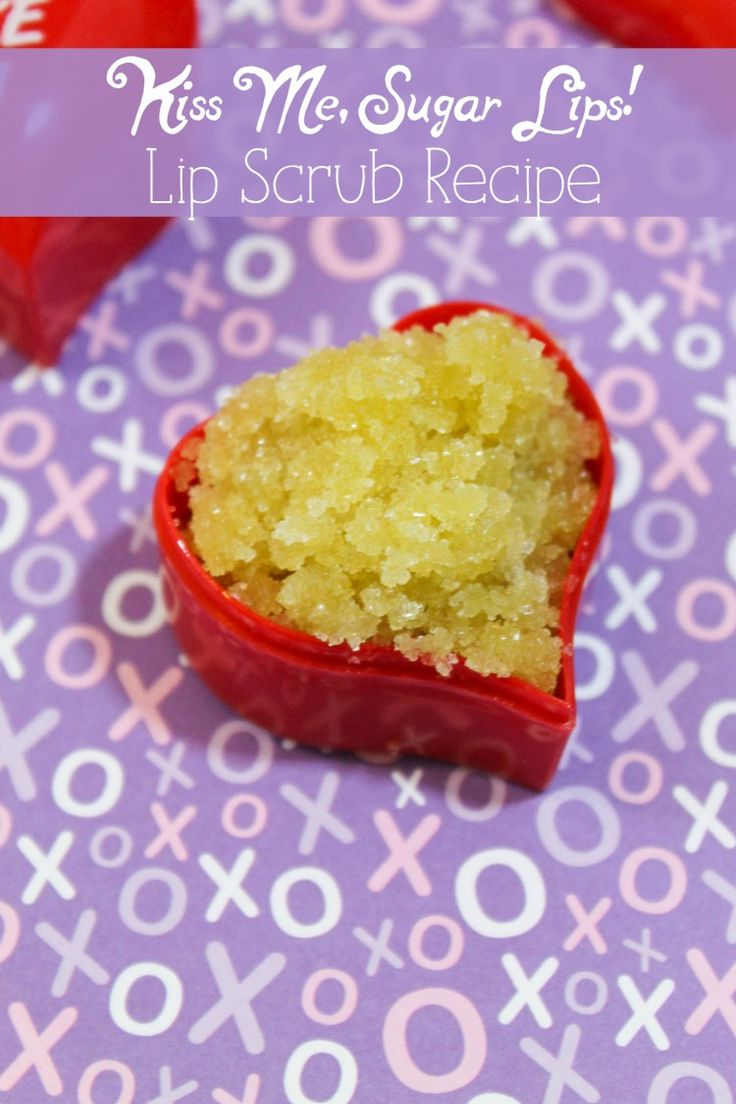 Want soft, kissable lips for your hot Valentine's Day date? Make your own Valentine's Day sugar lip scrub in just a few minutes with two ingredients (plus one optional ingredient)!