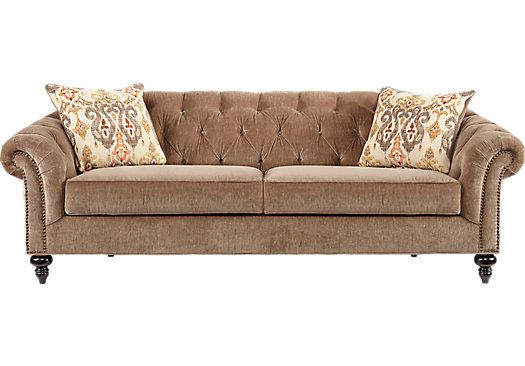 Shop For A Cindy Crawford Home Meredith Taupe Sofa At
