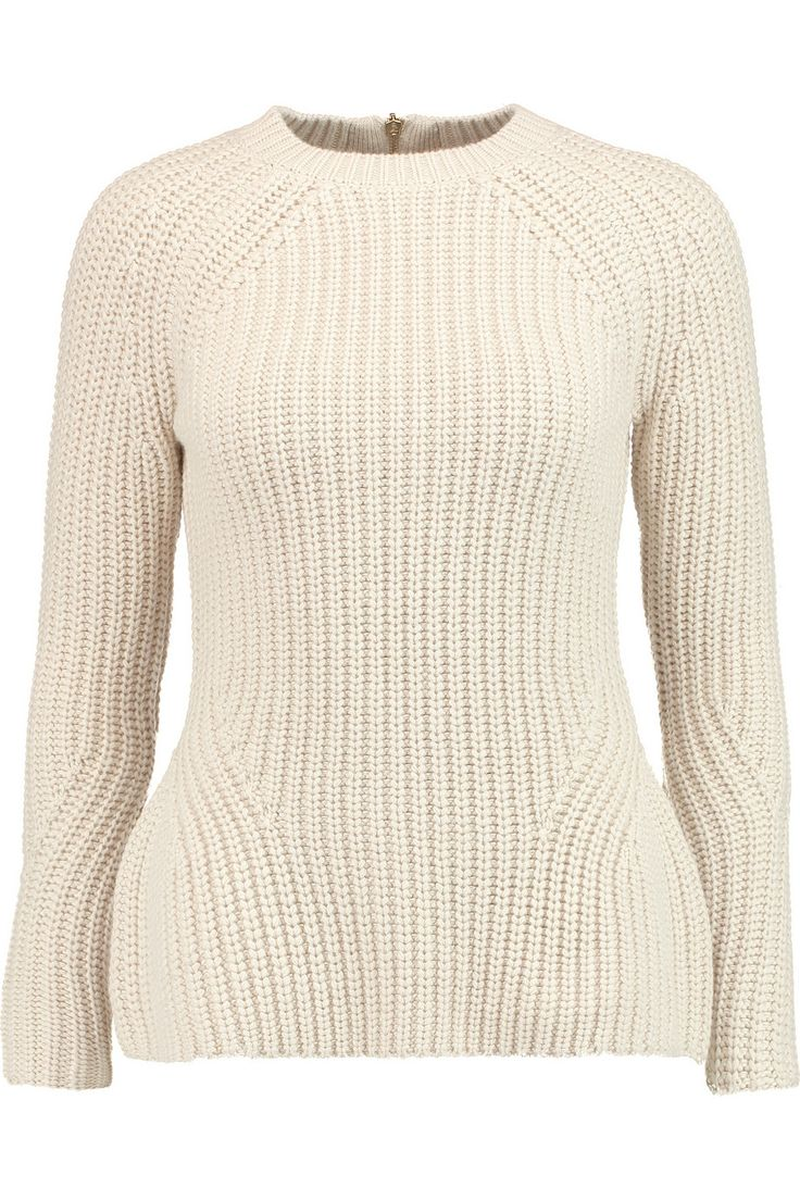 Iris and InkAmelia cotton and wool-blend peplum sweater