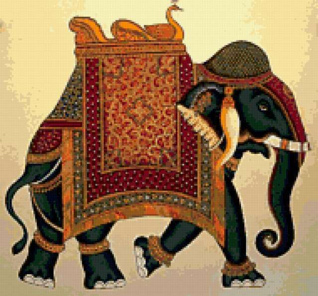 imgplusdb.com / вышивка индийский слон