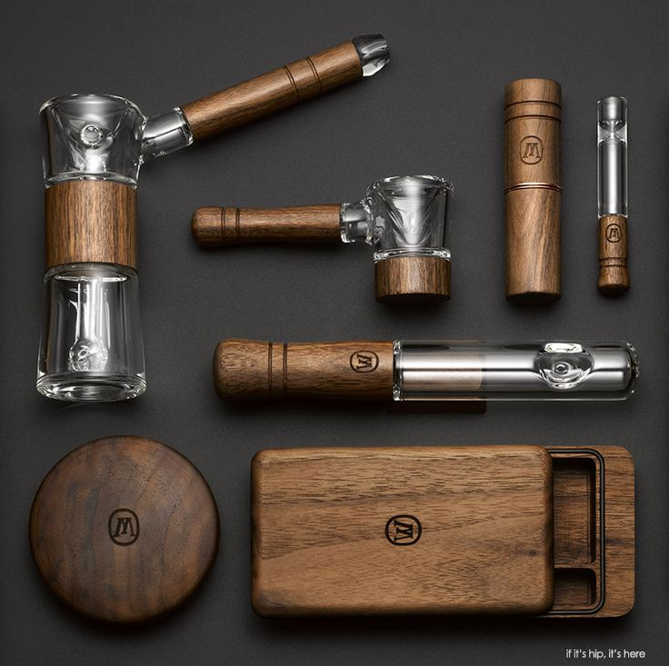 The Marley Natural Collection. This Is How Bob Rolls. Sustainable black walnut wood and blown glass smoking accessories.  - More at if it's hip, it's here