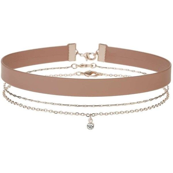 Miss Selfridge Blush 3 Pack Choker (£13) ❤ liked on Polyvore featuring jewelry, necklaces, accessories, chokers, pink, miss selfridge, choker jewelry, metal jewelry, metal necklace and pink choker necklace