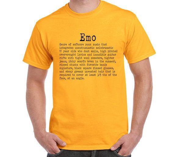 Emo T ShirtTeeGift Urban Dictionary Rock Punk by FreakyTshirtShop