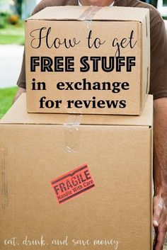 How to get free stuff in exchange for reviews + a list of brands that bloggers can work with for ambassador programs and free products. www.eatdrinkandsavemoney.com