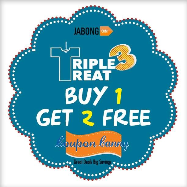 #Jabong Triple Treat: Buy 1 Get 2 Free! Grab the best #deal : http://www.couponcanny.in/jabong-coupons/