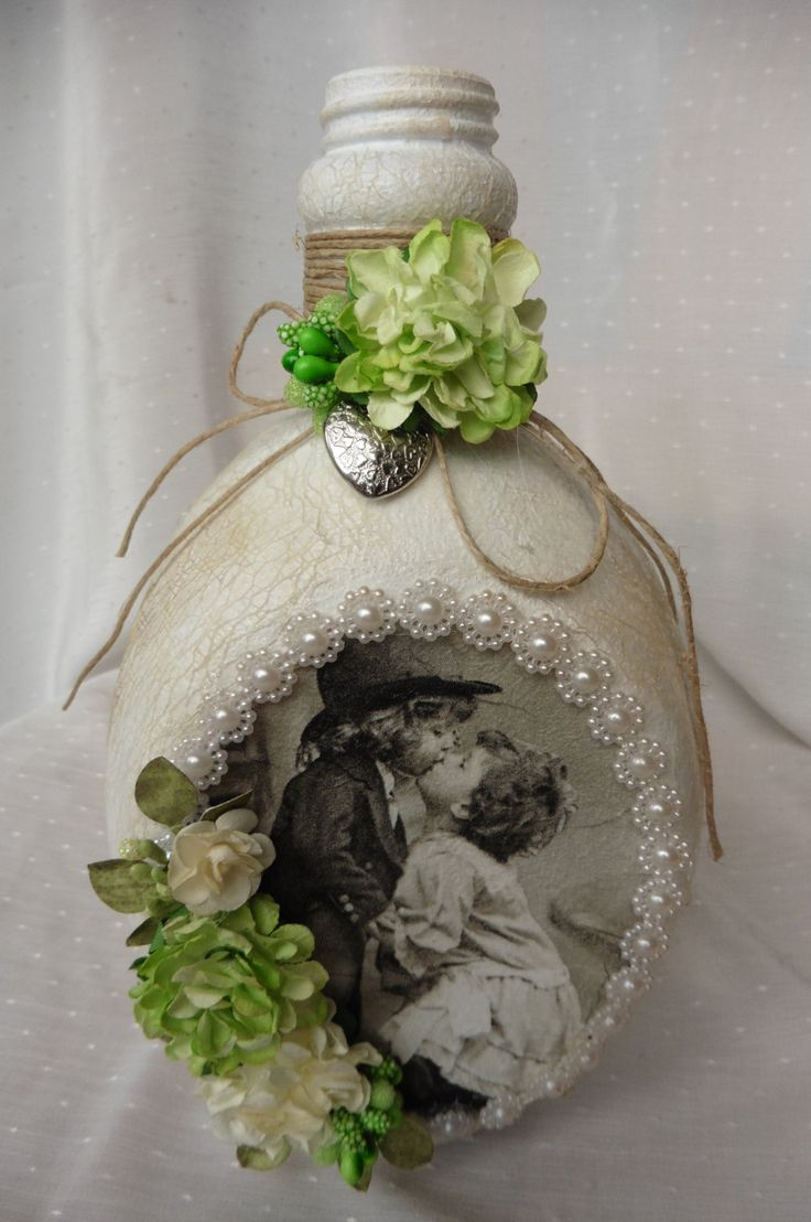 Altered bottle Sweet Love by AllegondaArts on Etsy