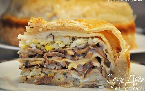 Курник — блинный пирог по-старорусски | Кулинарные рецепты от «Едим дома!»