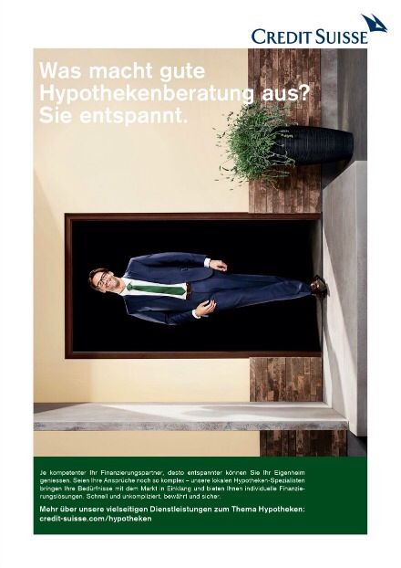 CS Hypothekenwerbung