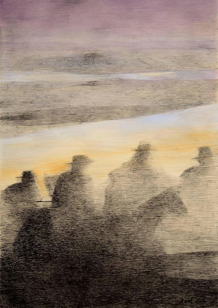 MARTÍN FIERRO, Y apenas el horizonte empezaba a coloriar,  Artista Rosenell Baud. http://www.ellibrototal.com/ltotal/ficha.jsp?t_item=6&id_item=70064
