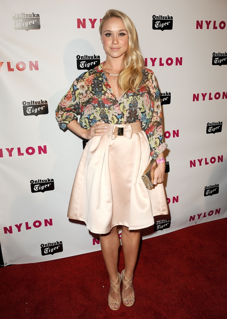 HOLLYWOOD, CA – MAY 14: Actress #Becca #Tobin attends #Nylon #Magazine's #Young #Hollywood issue event at The Roosevelt Hotel on May 14, 2013 in #Hollywood, #California. (Photo by Jason LaVeris/FilmMagic) #skirt