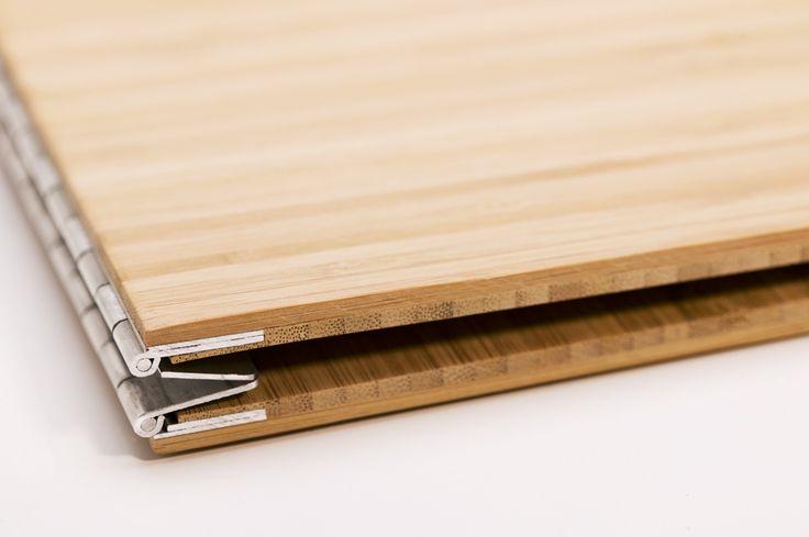 Handmade Wood Screwpost Portfolio Cover by Shrapnel Design » 8.5x11 Landscape » Solid Bamboo