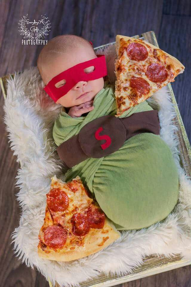 Newborn Photography.  Everydays A Gift Photography.  Teenage mutant ninja turtle
