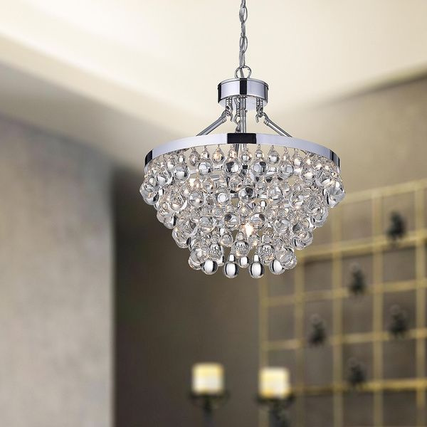 Ivana 5 light chrome luxury crystal chandelier by the lighting store can lights style and home - Can light chandelier ...