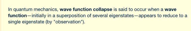 """"""" be all you can be all at once .. Reject wave function collapse """"."""