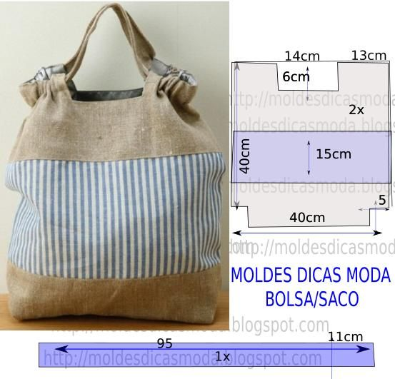 Passo a passo molde de bolsa em tecido com medidas para facilitar o desenho do molde.