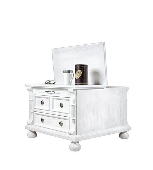 Wohnzimmertisch Im Landhausstil Schubladen Ausziehfach Truhe In 2020 Wohnzimmertisch Tisch Wohnzimmer