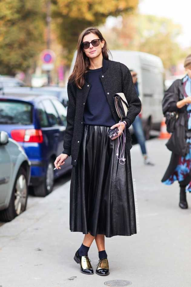 flats-street-style-leather-pleated-skirt-celine-gold-oxfords-paris-fashion-week-via-stockholm-streetstyle