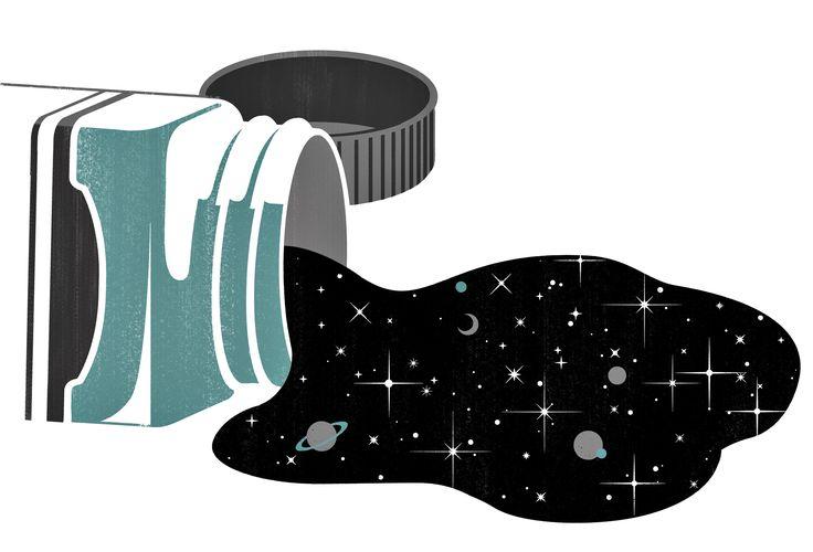 Joey Guidone - Vantablack. Black color, Color tube, Deep black, Pouring Paint, Universe, Editorial illustration, Surrealism, Pop Surrealism, Conceptual, Digital art