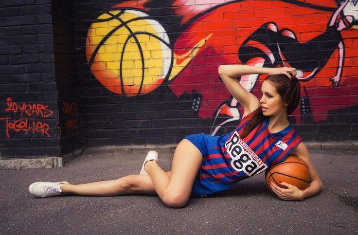 Maryana Dan model St. Petersburg, basketball set