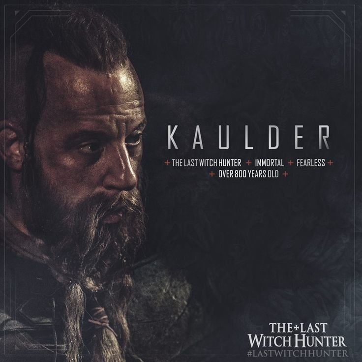 Vin Diesel is Kaulder, the last remaining hope in the war between our world and the next. #LastWitchHunter