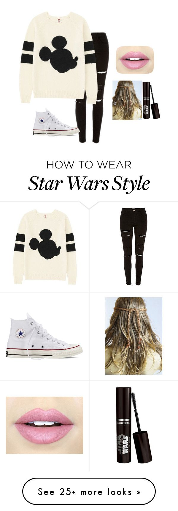 """Untitled #214"" by ambroselove on Polyvore featuring moda, Uniqlo, Converse i Fiebiger"