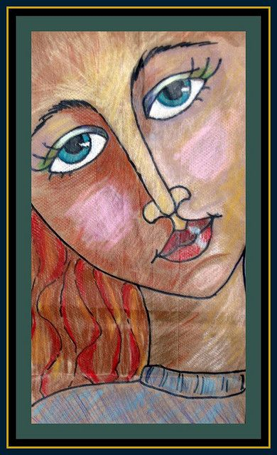 like the way the faces are drawn...brown paper bags: Colored Pencil, Brown Paper Bags, Art Lessons, Art Class, Art Projects