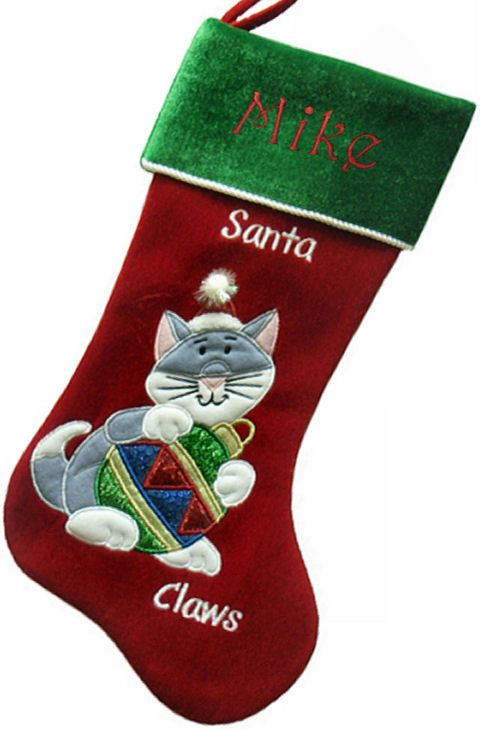 Personalized Cat Christmas Stockings