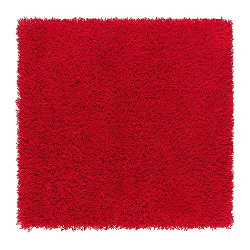 HAMPEN Rug, high pile - red - IKEA