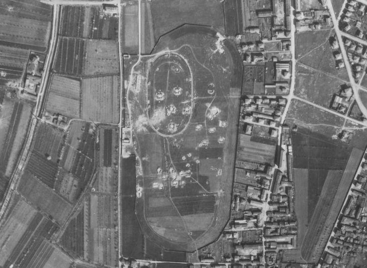verona, batteria antiaerea presso l'attuale viale dell'industra, ripresa RAF, 1945