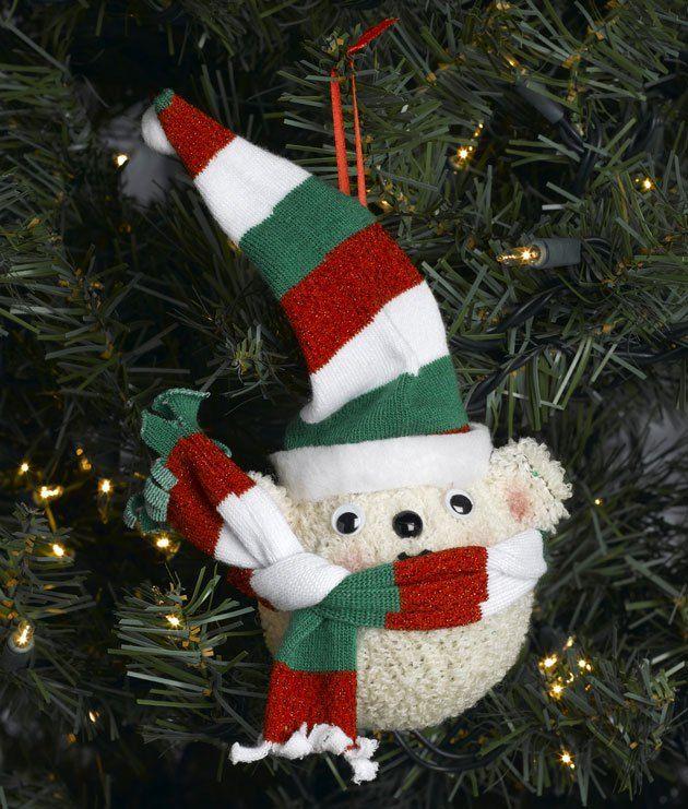 Simpatico orsacchiotto ornamento Fatto con i calzini. Guardalo su n glucosio Artigianato.