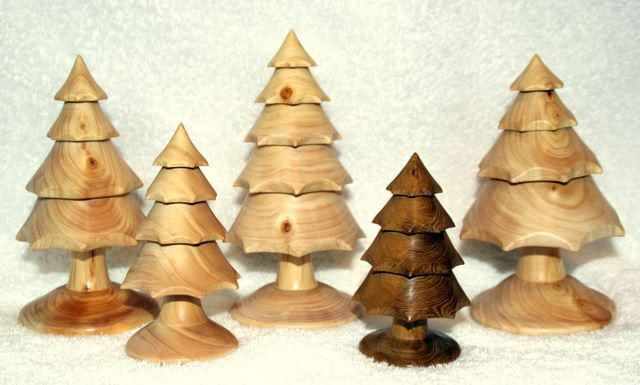 Christmas Tree Decorated With Ribbon Christmas Village Display Stands Small Pre Decorated Christmas Trees 640x385
