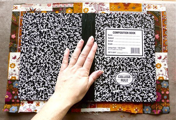 Tutorial: A super-simple way to cover a composition book « CraftyPod