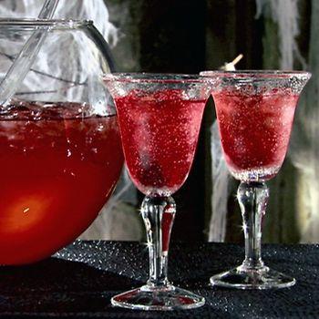 Cranberry Vodka Punch: 1 qt cranberry juice, 2 cups pineapple juice, 1 can frozen lemonade (thawed), 1 28 oz bottle of ginger ale, 2 cups vodka