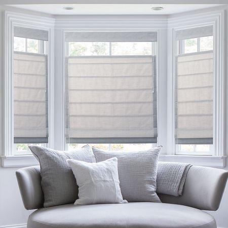 Premium Roman Shades Group C - Captiva Bone | Get with Blackout Liner #windows