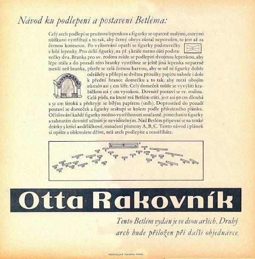 Nativity Scene: Marie Fischerova Kvechova, advertizing for Otta soap, a.k.a. Otta Rakovnik Betlém, Czech 1928-30(?). 8/8