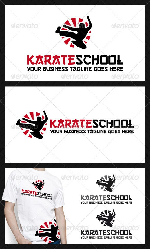 Karate School Logo Template — Vector EPS #academy #teach • Available here → https://graphicriver.net/item/karate-school-logo-template/3867287?ref=pxcr