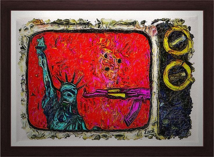 Liberty Under Siege! Gagged and under Duress she says Je Suis Charlie! Will she survive? http://zavok.com/portfolio-item/freedom-of-expression-painting/