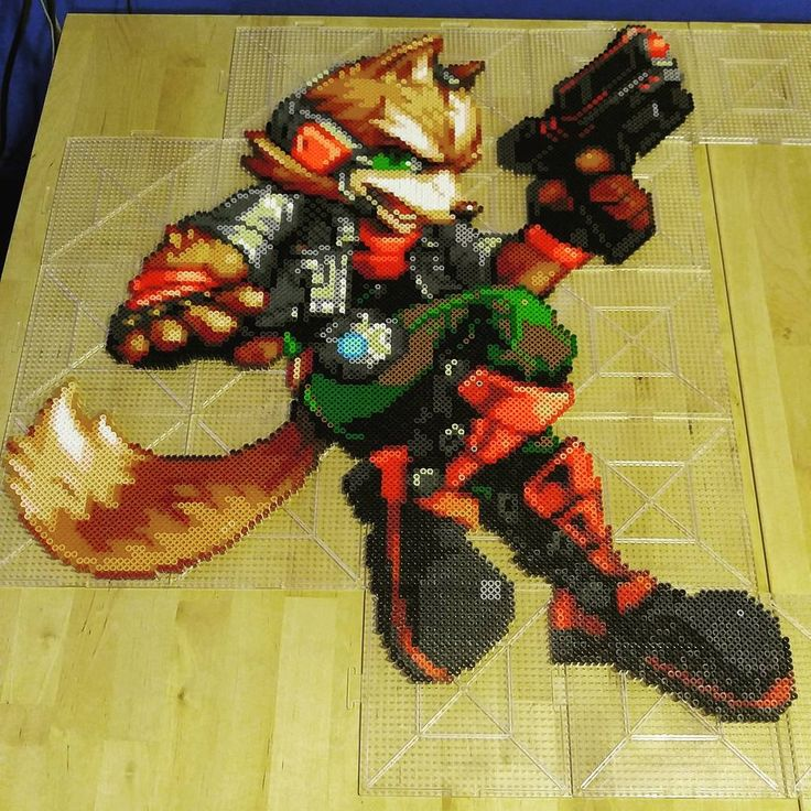 Star Fox perler beads by mebs_rx7