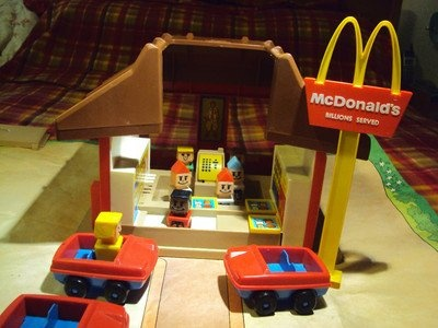 McDonalds Play Restaurant Set   ... 1974 Playskool Familiar Places McDonalds Restaurant playset for sale