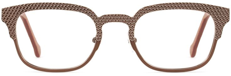 Closest approximation to my glasses. Mine are white plastic, which, with my grey hair, look kinda grey and seriously cool. Mine might be heavier and straighter along the top? Wear more frequently than orange pair, but less frequently than blue pair.