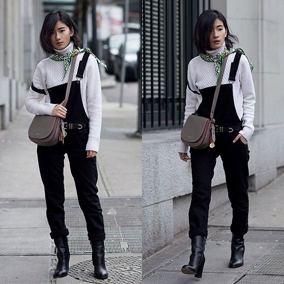 Get this look: http://lb.nu/look/8092450  More looks by Claire Liu: http://lb.nu/vonvogue  Items in this look:  Mavi Overall, Sam Edelman Booties, Equipment Sweater, Coach Saddle Bag   #casual #minimal #street #vancouver #vonvogue #canada #chicoutfit #sweater #uniqlo
