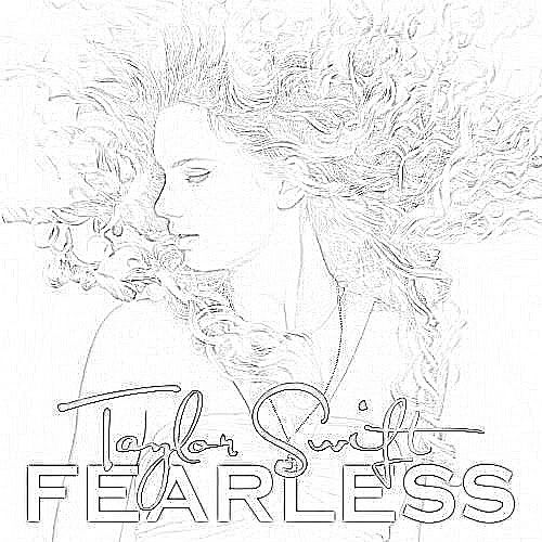 taylor swift coloring pages printable   taylor - swift -fearless-album    Taylor Swift Coloring Pages