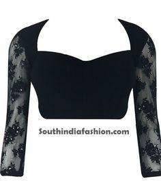 Saree Blouse Designs With Net Sleeves ~ Celebrity Sarees, Designer Sarees…